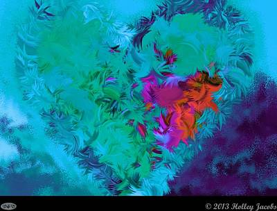 Digital Art - Hold Me Close Teal by Holley Jacobs