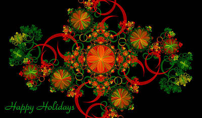 Digital Art - Holiday Card by Sandy Keeton