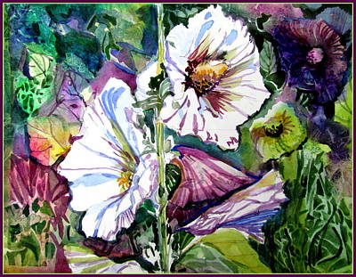 Holly Hocks Painting - Holly Hocks by Mindy Newman