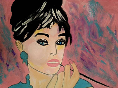 Painting - Audrey Hepburn - Holly  by Nikki Dalton