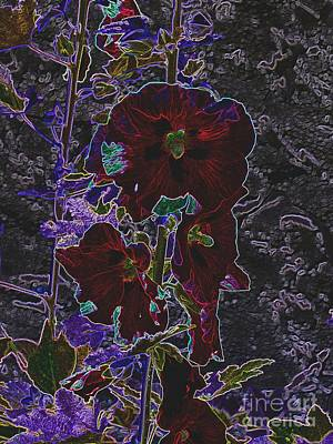Digital Art - Hollyhock Is Hollyhock by Galina Khlupina