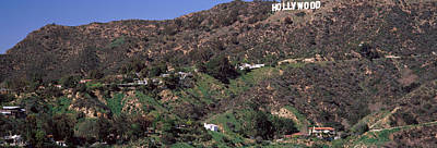 Hollywood Sign On A Hill, Hollywood Art Print by Panoramic Images