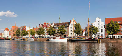Lubeck Photograph - Holstenhafen On The River Untertrave by Panoramic Images