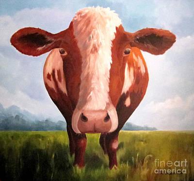 Wall Art - Painting - Holy Cow by Paula Marsh