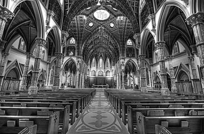 Art Print featuring the photograph Holy Name Cathedral  by Linda Edgecomb