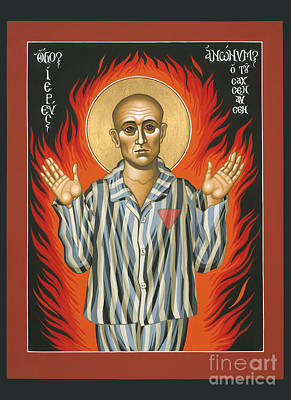 Painting - Holy Priest Anonymous One Of Sachsenhausen 013 by William Hart McNichols