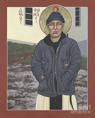 Painting - Holy World Evangelist Thomas Merton 267 by William Hart McNichols