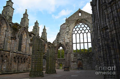 Holyrood Abbey Ruins Art Print by DejaVu Designs