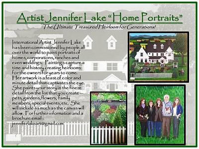 Painting - Home Portrait  by Jennifer Lake