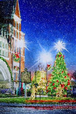 Home Town Christmas Art Print