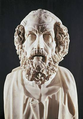 Homer 9th Century  Bc. Roman Copy Art Print