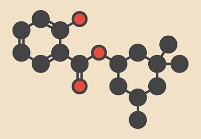 Homosalate Sunscreen Molecule Art Print by Molekuul
