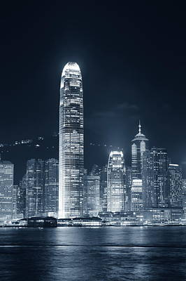 Photograph - Hong Kong Black And White by Songquan Deng