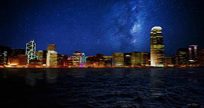 Hong Kong Mixed Media - Hong Kong City Limits by Sir Josef - Social Critic -  Maha Art