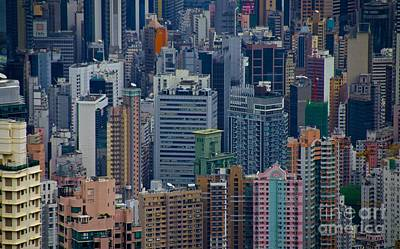Photograph - Hong Kong High Rises  by Sarah Mullin