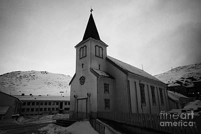 Honningsvag Kirke Church Finnmark Norway Art Print by Joe Fox