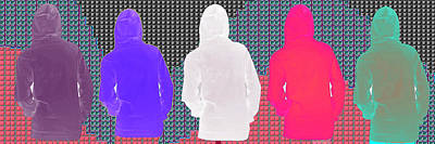 Painting - Hoodie Gang Graffiti Fashion Background Designs  And Color Tones N Color Shades Available For Downlo by Navin Joshi