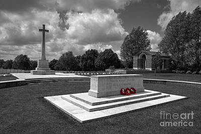 Ypres Photograph - Hooge Cemetery  by Rob Hawkins