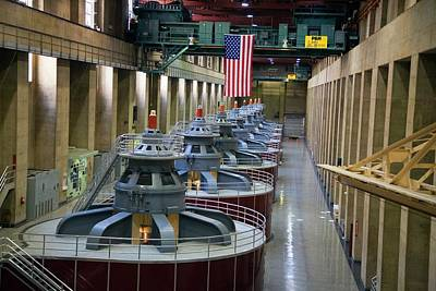 Hoover Dam Photograph - Hoover Dam Turbine Hall by Jim West