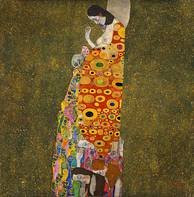 Hope Art Print by Gustav Klimt