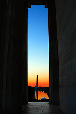 Capitol Reflecting Pool Photograph - Hope by Mitch Cat