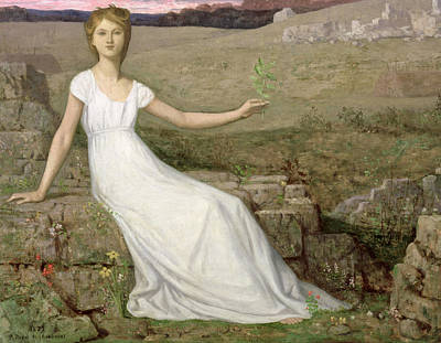 Hope Art Print by Pierre Puvis de Chavannes