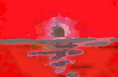 Digital Art - Horizon by Mimo Krouzian