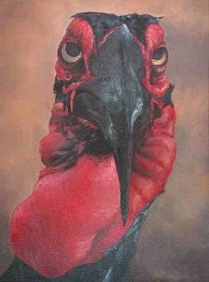Hornbill Painting - Hornbill by Keith Michenzie