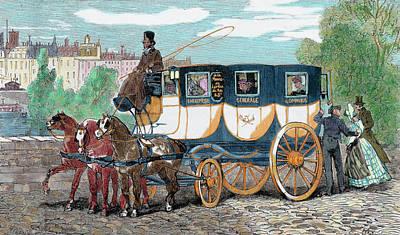 Horse-drawn Omnibus Art Print by Prisma Archivo