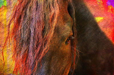 Mystical Landscape Digital Art - Horse  by Mark Ashkenazi
