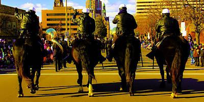 Horse Patrol Art Print