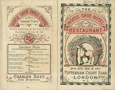 Horse Shoe Hotel And Restaurant Art Print by British Library