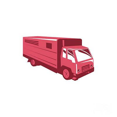 Digital Art - Horse Truck Trailer Retro by Retro Vectors