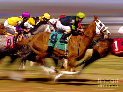 Photograph - Horserace by Herb Paynter