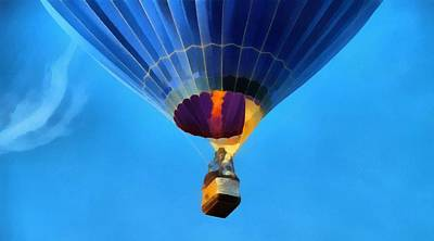 Hot Air Balloon Taking Off Art Print by Dan Sproul