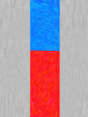 Blue And Red Painting - Hot And Cold by Celestial Images