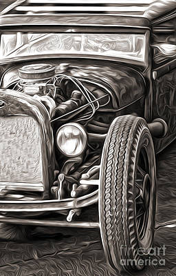 Painting - Hot Rod by Gregory Dyer