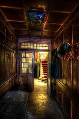 Creepy Digital Art - Hotel Hallway by Nathan Wright