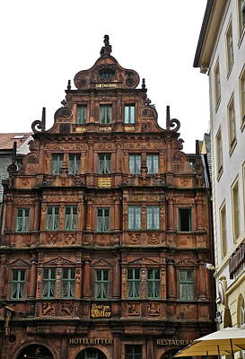 Photograph - Hotel Ritter In Heidelberg by Kirsten Giving