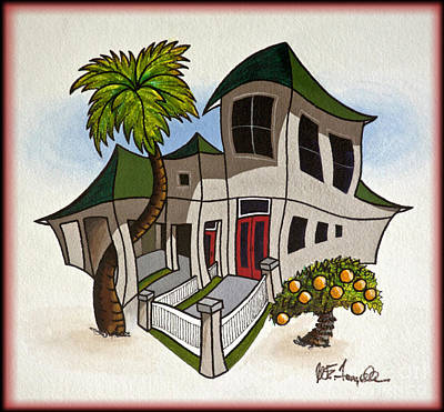 Painting - House Caricatures For Sale by Walt Foegelle