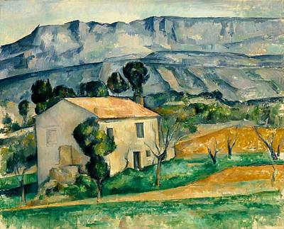 1890 Houses Painting - House In Provence by Paul Cezanne