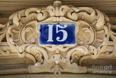 Fifteen Photograph - Building Number - Paris by Brian Jannsen