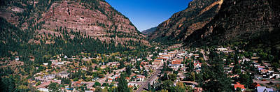 Ouray Photograph - Houses In A Town, Ouray, Ouray County by Panoramic Images