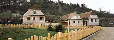 Romania Photograph - Houses In A Village, Biertan by Panoramic Images