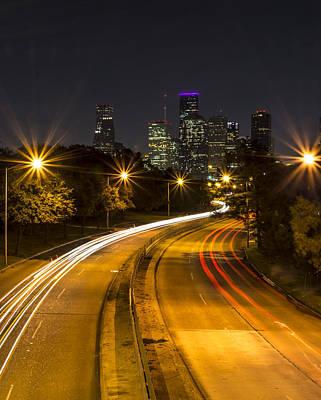 Sunset Photograph - Houston Nights by David Morefield