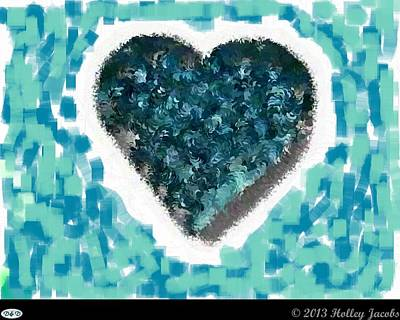 Digital Art - How Do I Live Teal by Holley Jacobs