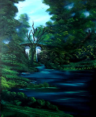 Cynthia-adams-uk Painting - How Green Is My Valley by Cynthia Adams