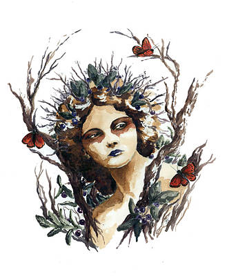 Huckleberry Nymph Art Print by Lavandulae L