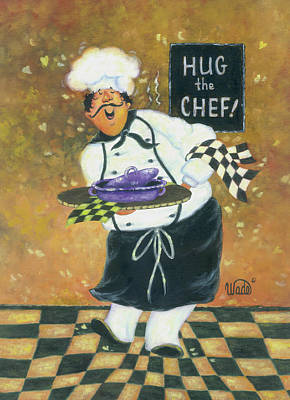 Hug The Chef Print by Vickie Wade