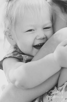 Hugging Mother And Daughter In Black And White Art Print by Jorgo Photography - Wall Art Gallery